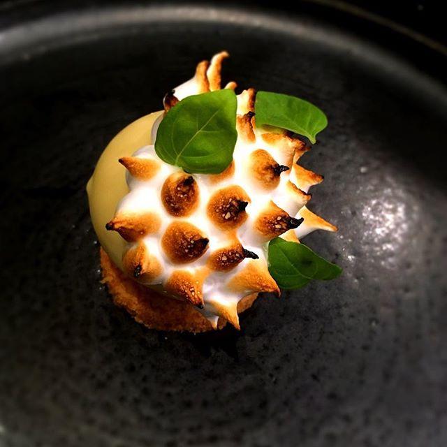 #tartecitron #meringue #persil #fenouil #restaurant #paris #accentstablebourse #citron #dessert #パリ#レストラン#hydropousse
