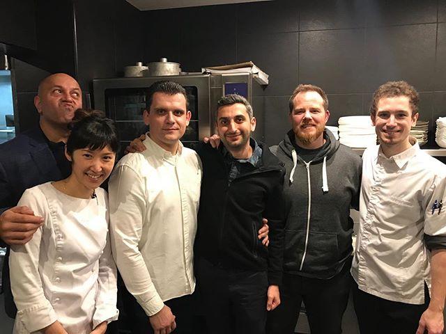 Merci beaucoup au chef Satbains et au chef John #satbains #restaurantetoile #chef #レストラン #パリ #イギリス