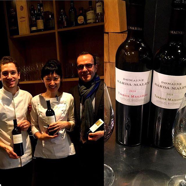 Merci beaucoup M.Malet! Très bon vins#accentstablebourse #paris #vin #gastronomique #ワイン #vigneron #パリ