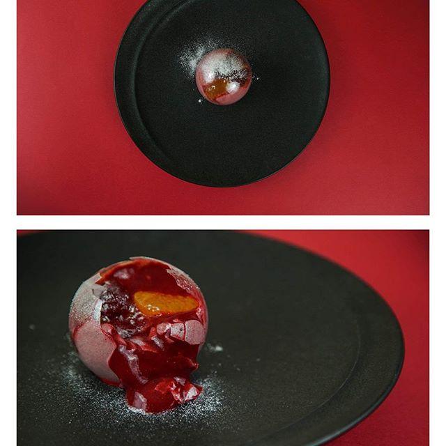 #betterave #griotte #boule #fruit #accentstablebourse #alacarte #food #インスタ映え #パリ #restaurant #ガストロノミー