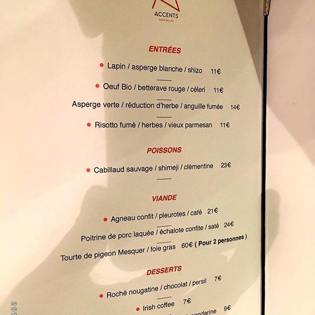 On ouvre samedi midi Et on commence à la carte !!!! #alacarte #samedi #gastronomy #bio #asperges #accentstablebourse #paris #food #menu #dejeuner #love #amour #content #chef