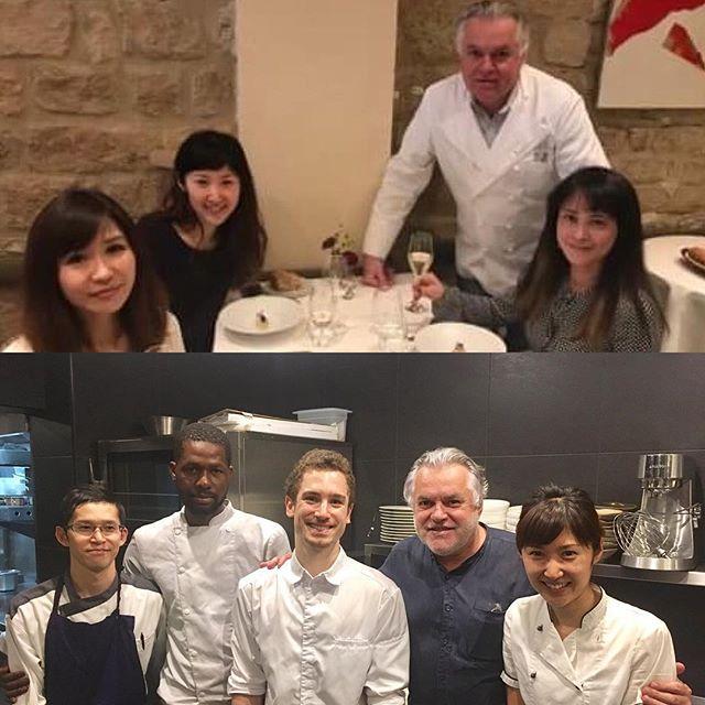 Merci beaucoup Chef Dominique BOUCHET !!! #dominiquebouchet #accentstablebourse #cuisine #chef #gastronomy #paris #パリ #レストラン #placedelabourse @dominiquebouchet