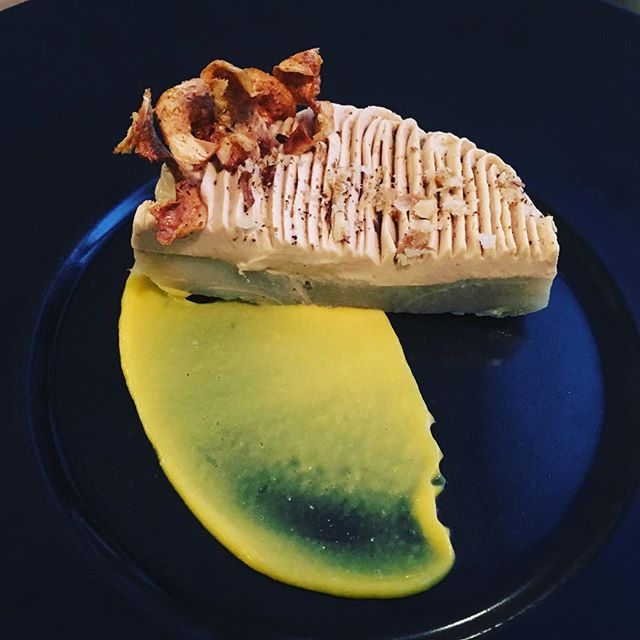 Artichaut, foie gras, orange----Artichoke, foie gras, orange#accentstablebourse #ayumisugiyama @romainmahi #artichoke #gourmet #gastronomy #restaurant #paris #foodlover #foodie #foiegras #orange